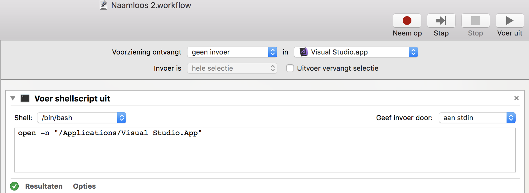 Using Automator to create new instance Visual Studio for